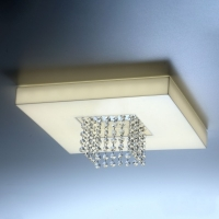 PLAFON SOBREPOR LED C/ CRISTAIS  - DOMENICA CRT